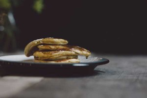 pancakes for breakfast at Langland Cove B & B