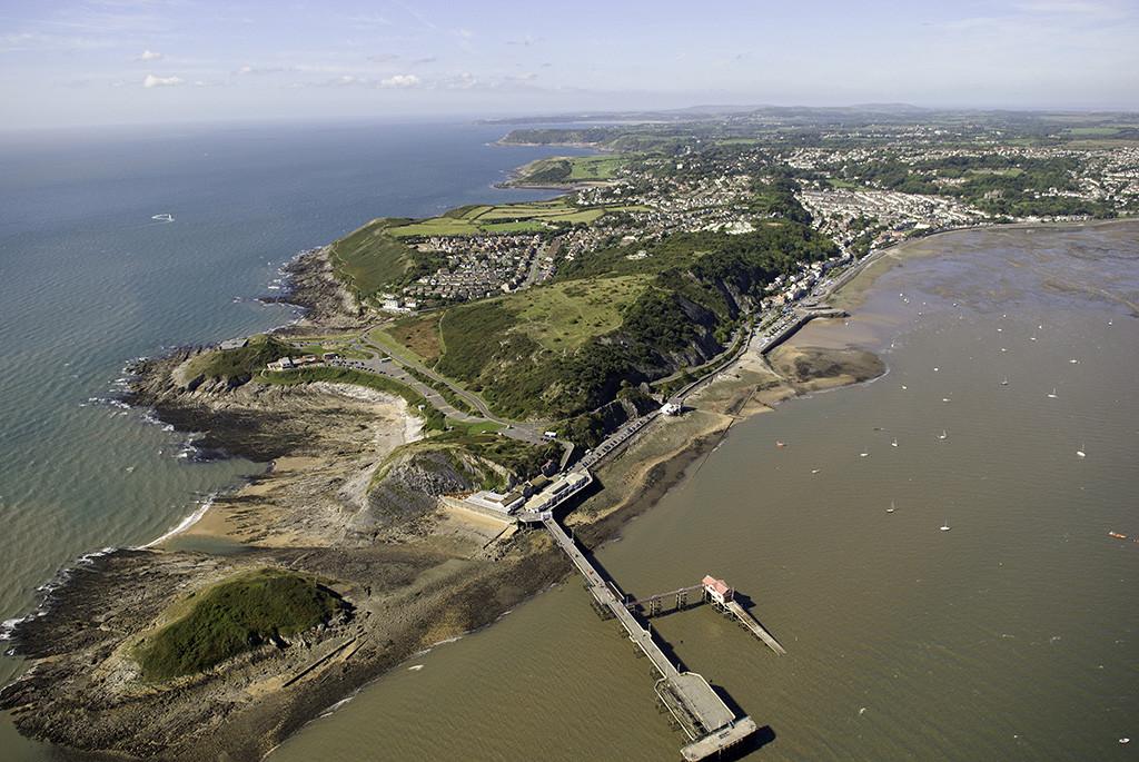Mumbles Head Aerial Shot Gower Peninsula