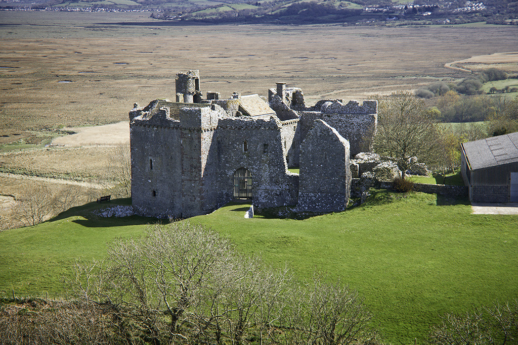 Weobley Castle Gower Peninsula Gower walks